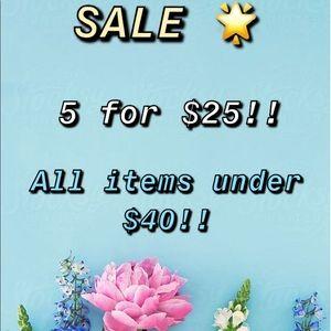 SALE!! 🌟 5/$25